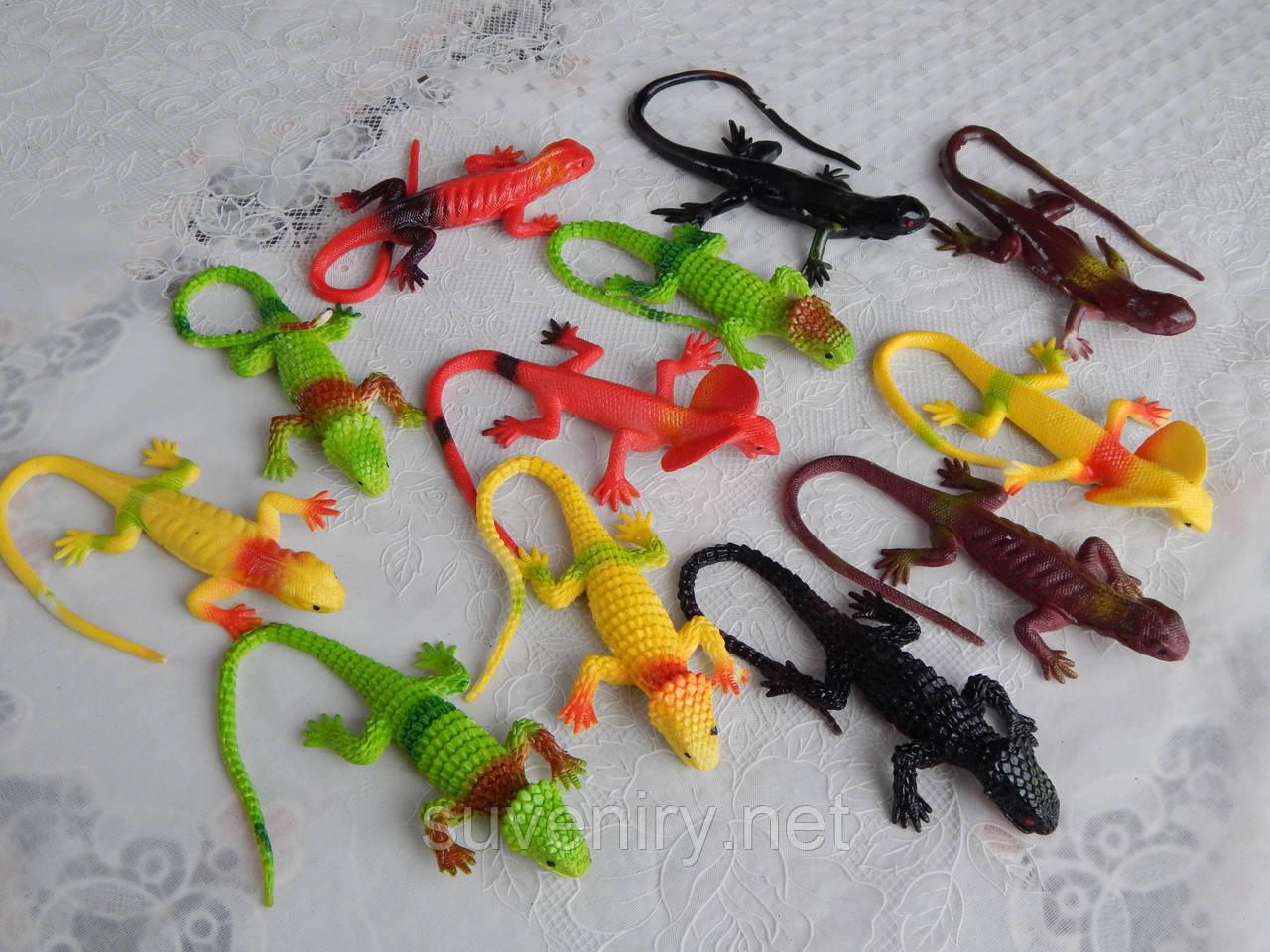 Детская игрушка ящерка силиконовая разные цвета