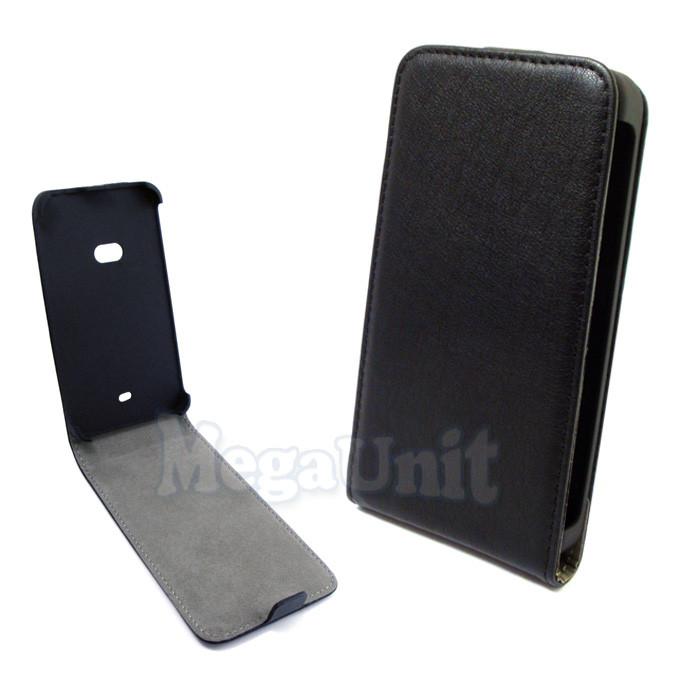 Откидной чехол-флип для Nokia 625 Lumia Черный