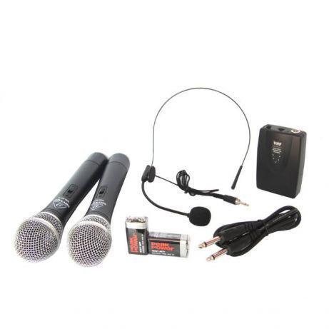 Качественная радиосистема Behringer WM-501R с гарнитурой база 2 радиомикрофона