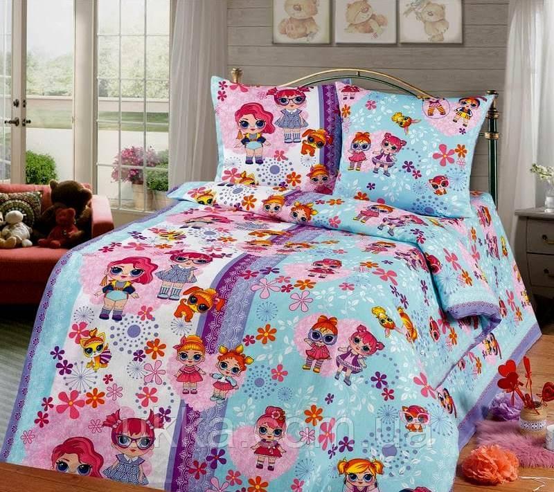 Детское постельное белье полуторное куклы Лол