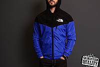 Мужская ветровка The North Face | куртка Виндранер | Чоловіча вітрівка Норз Фейс Віндранер (Черно-Синий), фото 1