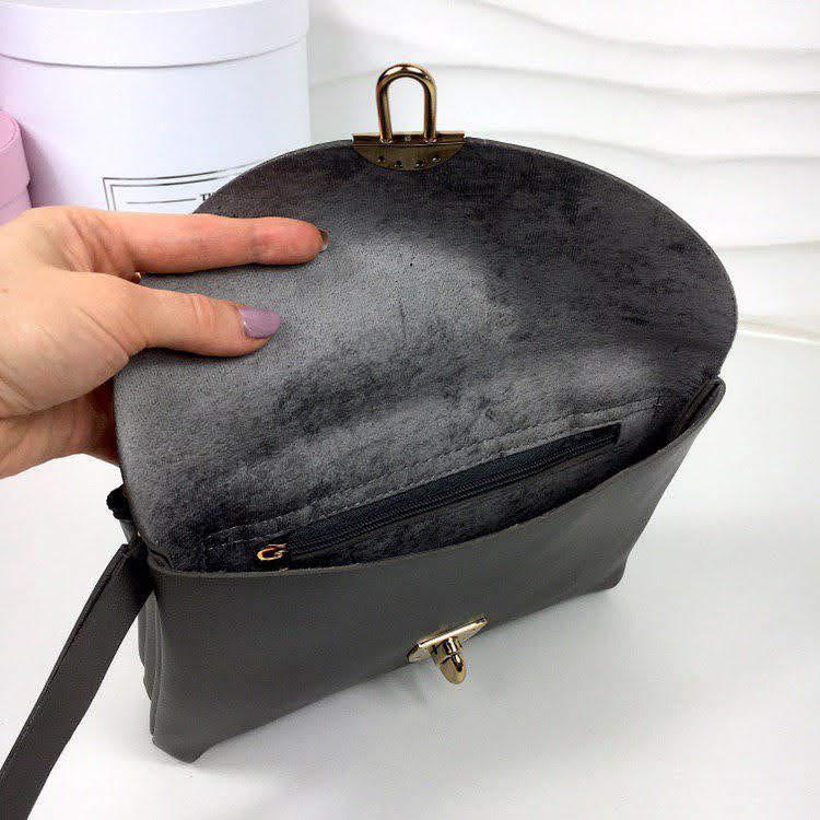 a45012364ffe ... Сумка женская клатч сумочка кросс-боди экокожа серебро 11416/4, ...