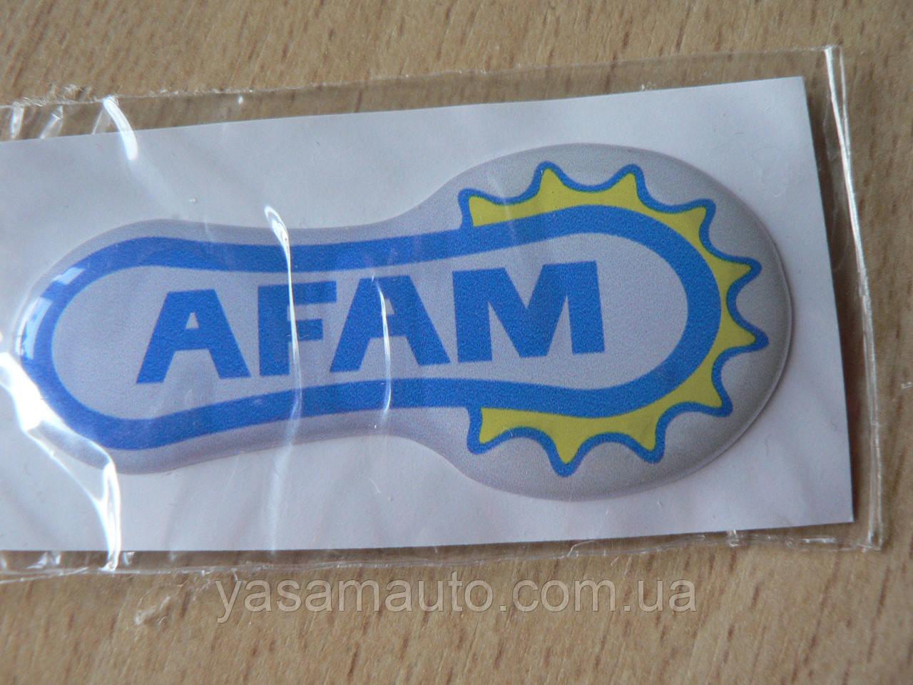 Наклейка s силиконовая мото Afam 65х30х1,7мм Афам запчасти на мотоциклы авто