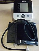 Тонометр цифровой ukс blpm-11, показывает ваше давление и пульс, память на 120 данных, lcd-дисплей, 6в