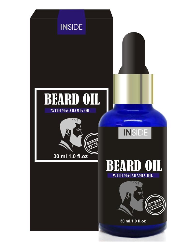 Масло для догляду за бородою з феромонами Beard Oil Macadamia, 30 мл