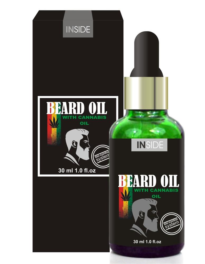 Масло для ухода за бородой с феромонами и конопляным маслом Cannabis Beard Oil, 30 мл