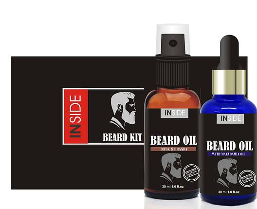 Набор для ухода за бородой с феромонами Beard Oil Kit, 2 шт по 30 мл , фото 2
