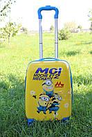 Детский чемодан на 4 колесиках Миньоны 22 литра (с дефектом)