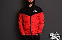 Мужская ветровка The North Face | куртка Виндранер | Чоловіча вітрівка Норз Фейс Віндранер (Черно-Красный)