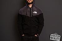 Мужская ветровка The North Face   куртка Виндранер   Чоловіча вітрівка Норз Фейс Віндранер (Черно-Серый), фото 1