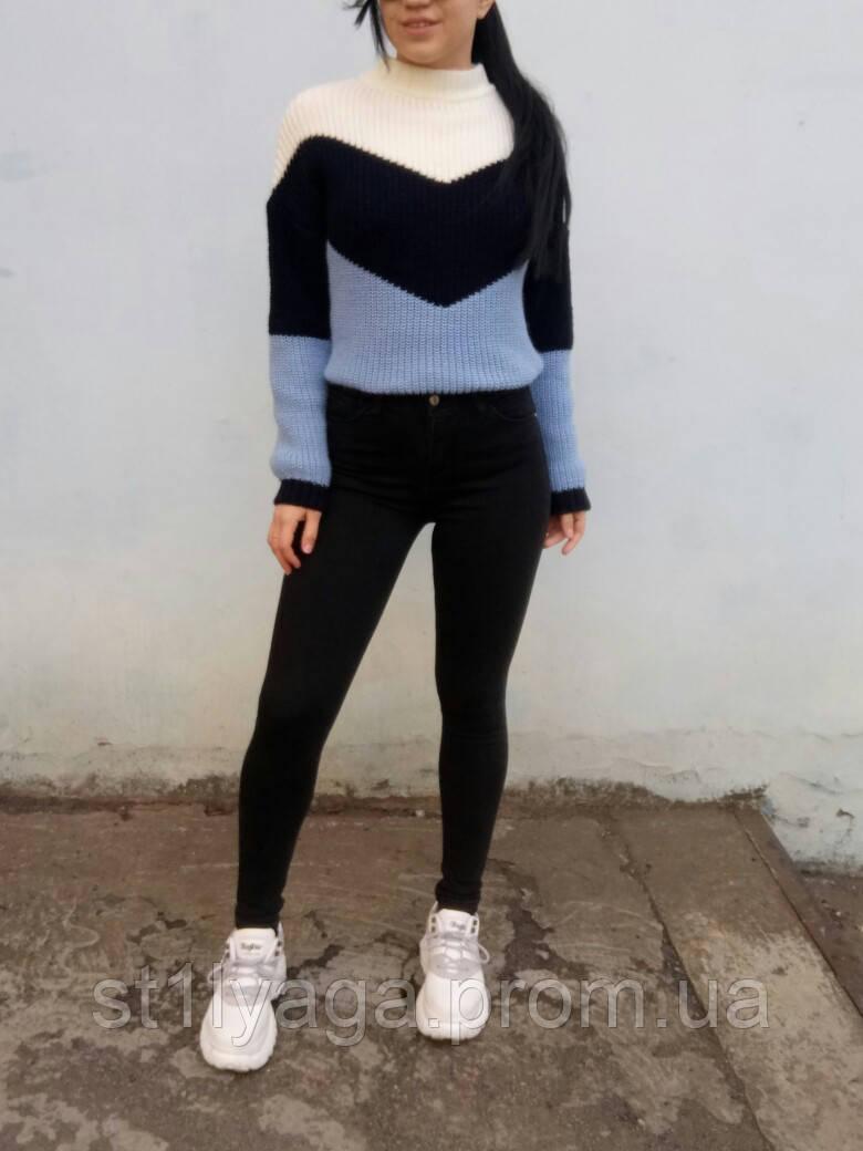 Джинсы женские Skinny Fit с высокой посадкой HEPYEK  черный