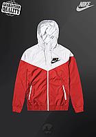 Мужская ветровка Nike Windrunner   куртка Виндранер   Чоловіча вітрівка Найк Віндранер (Красно-Белый), фото 1