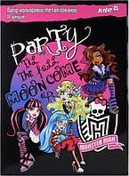 Папір кольор. метал. (10арк/10кол) А4 Monster High