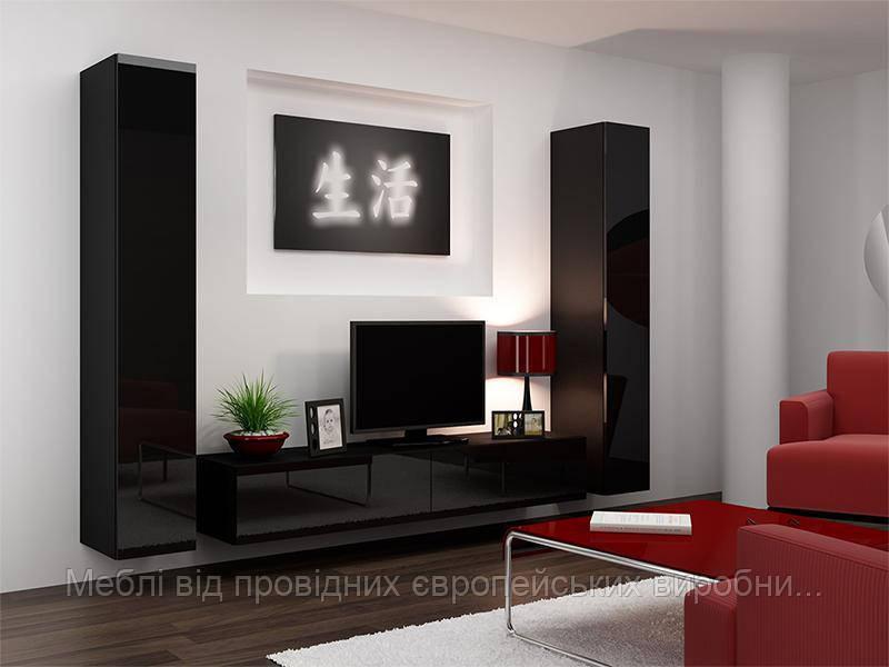Гостиная Vigo 4 Черный мат / Черный глянец Cama