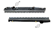 501-MB1203-01 | Радіатор без рами [PERFEKT COOLING] MERCEDES ACTROS, фото 3