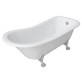 Акриловая ванна на львиных лапах Volle 12-22-706 белая