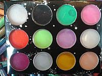 Акрил цветной для лепки (Diamond 12 цв )