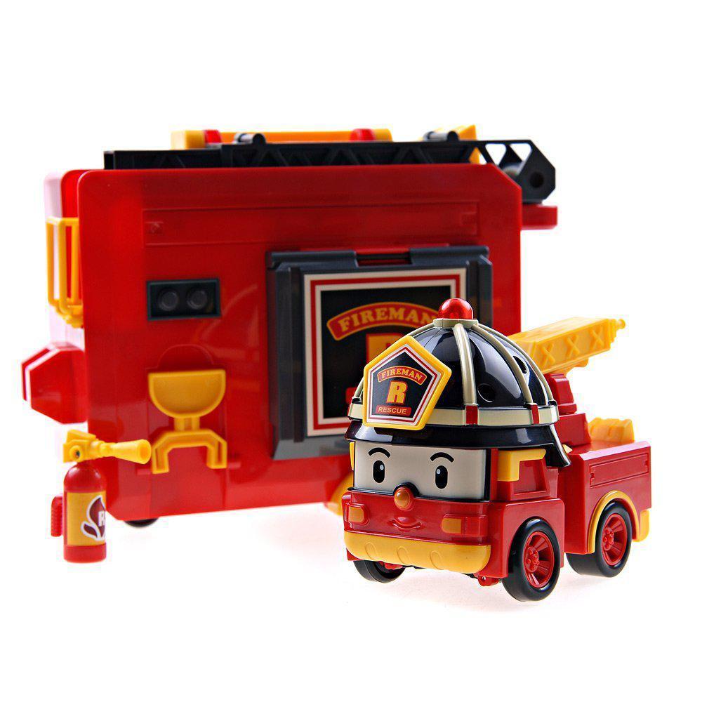Трансформер Рой с гаражем 12,5 см Robocar Poli (83073)