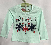 """Кофта дитяча для дівчинки, """"Miss Girls"""", 1-5 років, м'ятна, фото 1"""