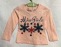 """Кофта дитяча для дівчинки, """"Miss Girls"""", 1-5 років, персикова, фото 1"""