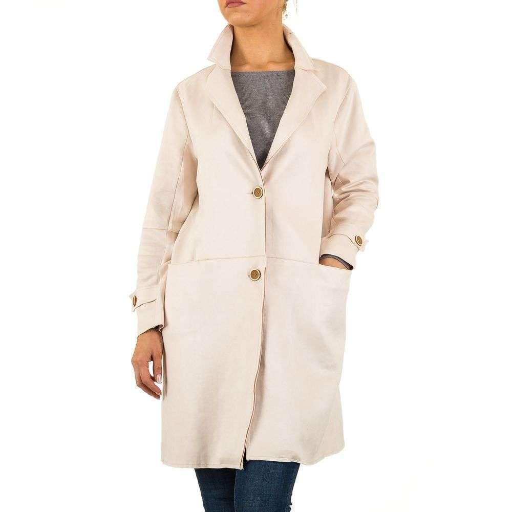 Пальто женское (Европа) Кремовый