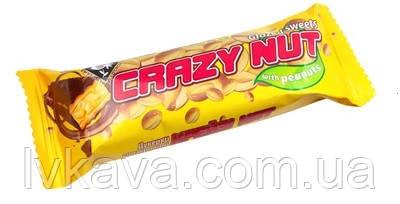 Батончик глазированный Crazy Nut с арахисом , 35 гр