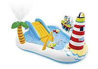 Intex 57162, детский надувной центр с горкой Рыбалка, фото 1