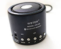 Мини-колонка блютуз с микрофоном ws-q9, аккумуляторное питание, приём звонков, со звуковой навигацией, радио