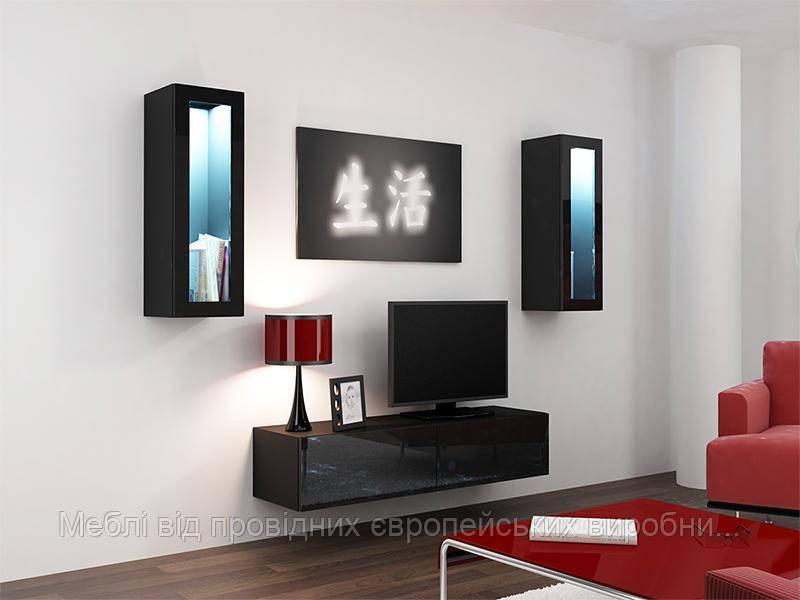 Гостиная Vigo 8 Черный мат / Черный глянец Cama