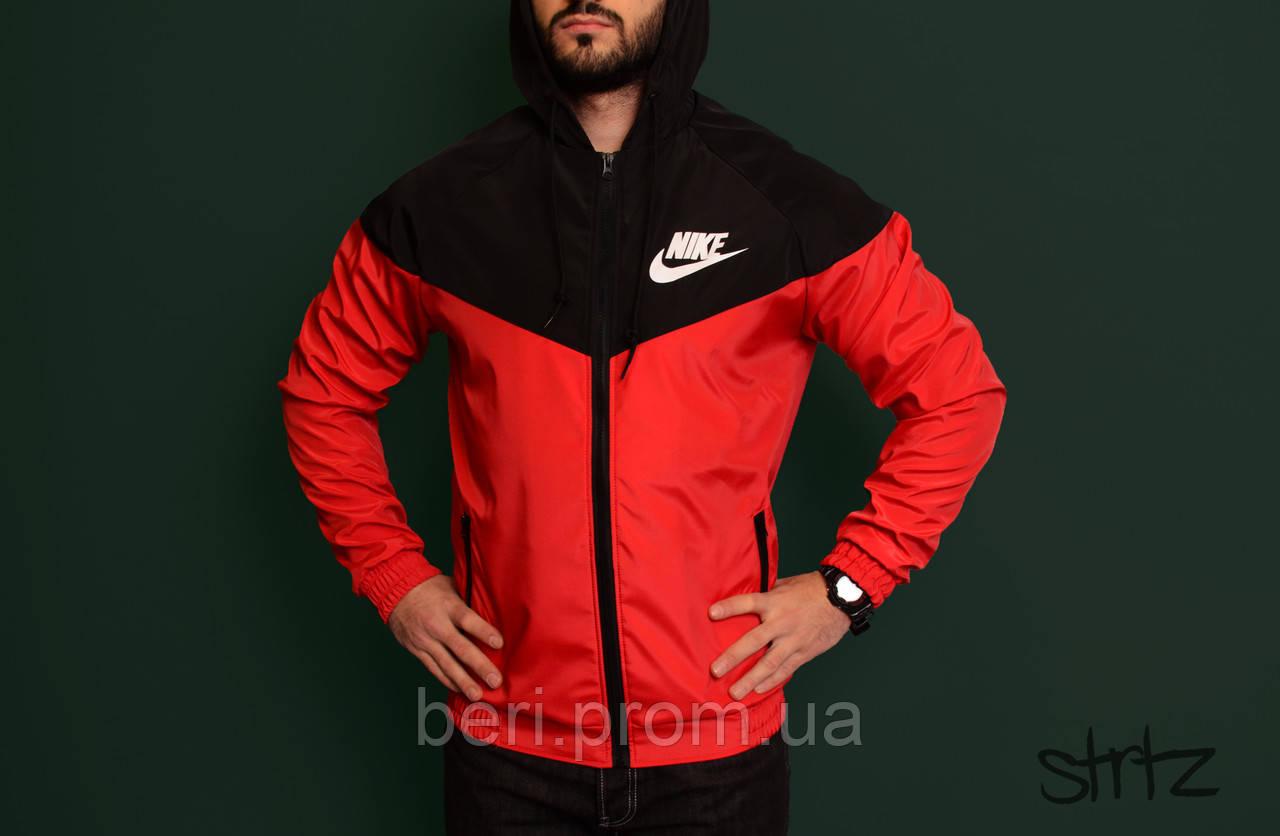 f2e03fd8 Мужская ветровка Nike Windrunner   куртка Виндранер   Чоловіча вітрівка  Найк Віндранер (Черно-Красный