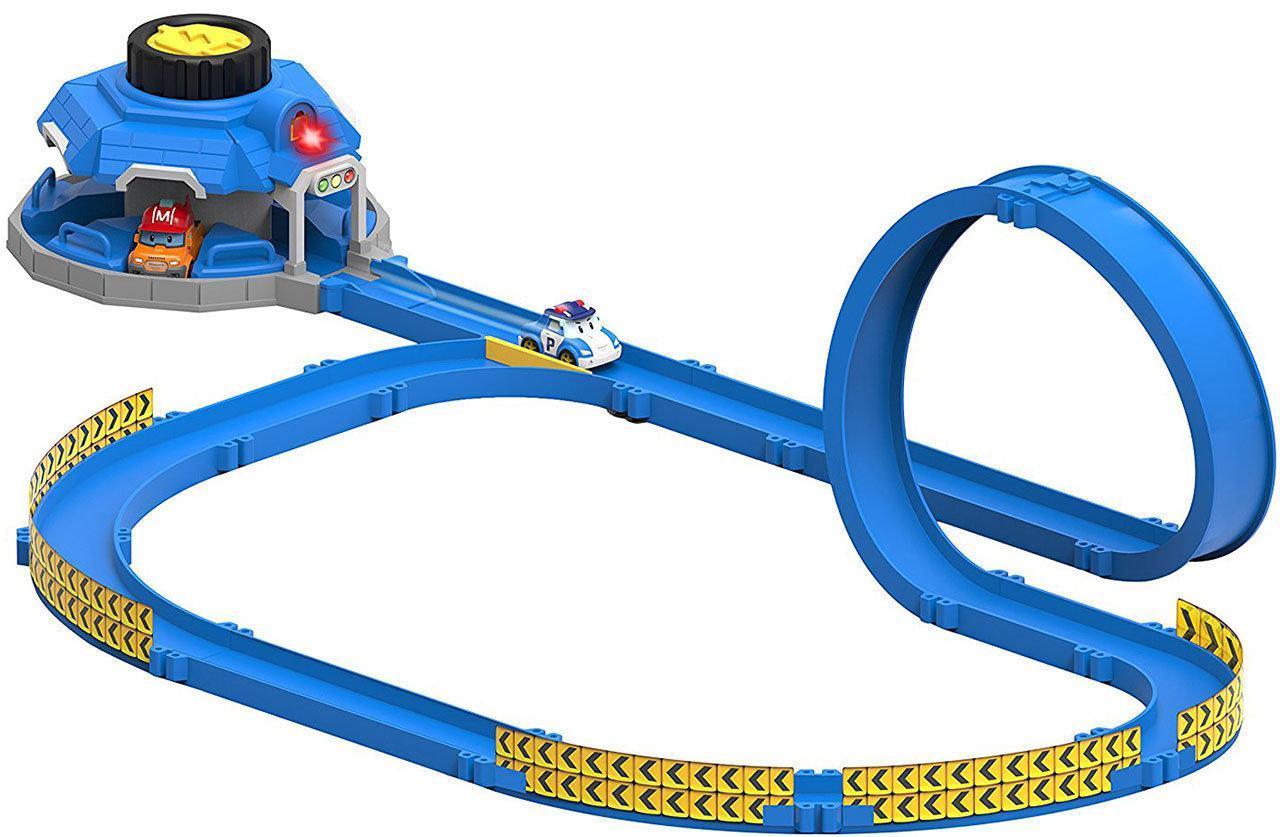 Набор Robocar Poli Трек с пусковым механизмом и мини машинками Поли и Марк (83381)