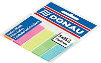 Закладки пластиковые с клейкой полоской 5 цв. х25 лист., 45х12мм., неон, ассорти