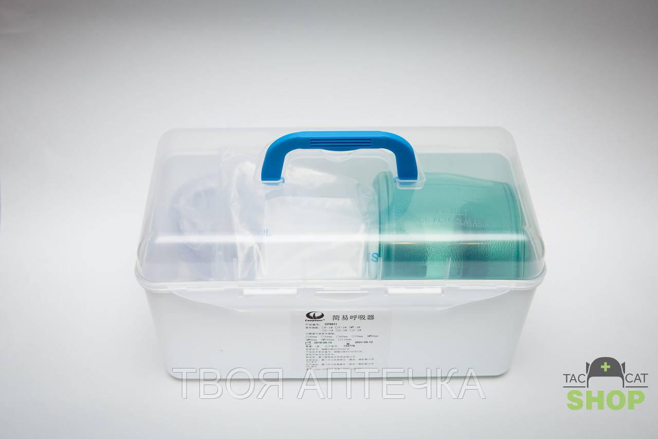 Пристрій для ручної вентиляції легенів дорослий (мішок Амбу)