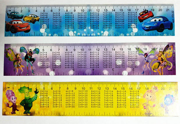 Набор закладок 12 шт. (картон) c таблицей умножения, фото 2