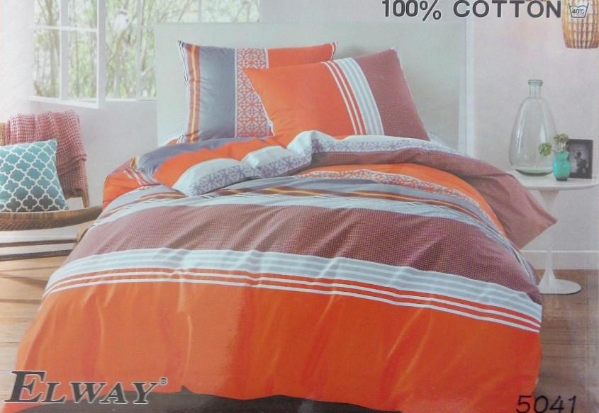 Сатиновое постельное белье полуторное  ELWAY  5041