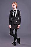 Детская одежда МОНЕ,трикотажная  кофточка с длинным рукавом (черная) р-ры 146,158, фото 2