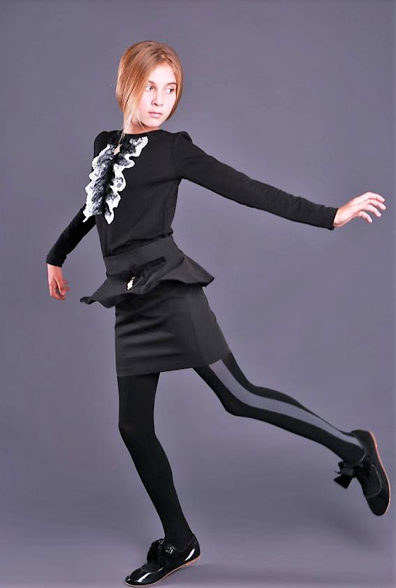 Детская одежда МОНЕ,трикотажная  кофточка с длинным рукавом (черная) р-ры 146,158