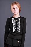 Детская одежда МОНЕ,трикотажная  кофточка с длинным рукавом (черная) р-ры 146,158, фото 3