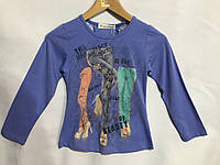 """Кофта детская для девочки, """"Брючки"""", 6-10 лет, синяя, фото 1"""