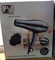 Hair Dryer PM-2301 Promotec 3000W, Профессиональный фен, Мощный фен для сушки волос, Фен с насадками