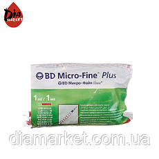 Инсулиновый шприц МикроФайн U-40 1 мл