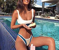 Раздельные купальники женский топ и плавки стильный, фото 1