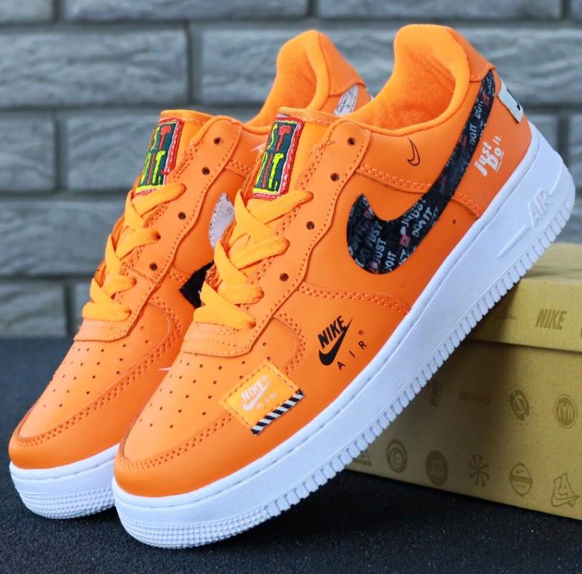 Мужские кроссовки Nike Air Force 1 Low Just Do It Pack Orange