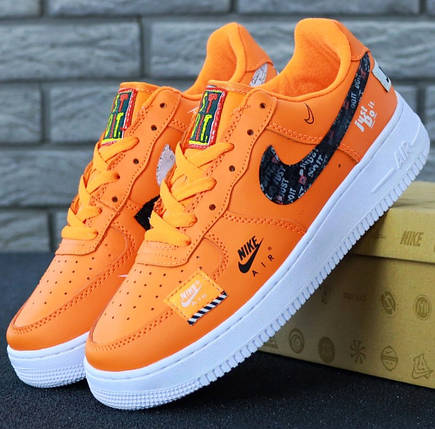 105bbaef1cab84 Мужские кроссовки Nike Air Force 1 Low Just Do It Pack Orange, фото 2