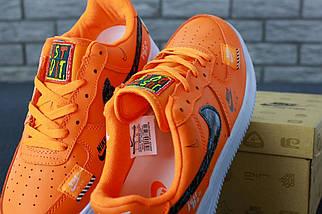 Мужские кроссовки Nike Air Force 1 Low Just Do It Pack Orange, фото 3