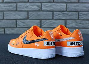 Мужские кроссовки Nike Air Force 1 Low Just Do It Pack Orange, фото 2
