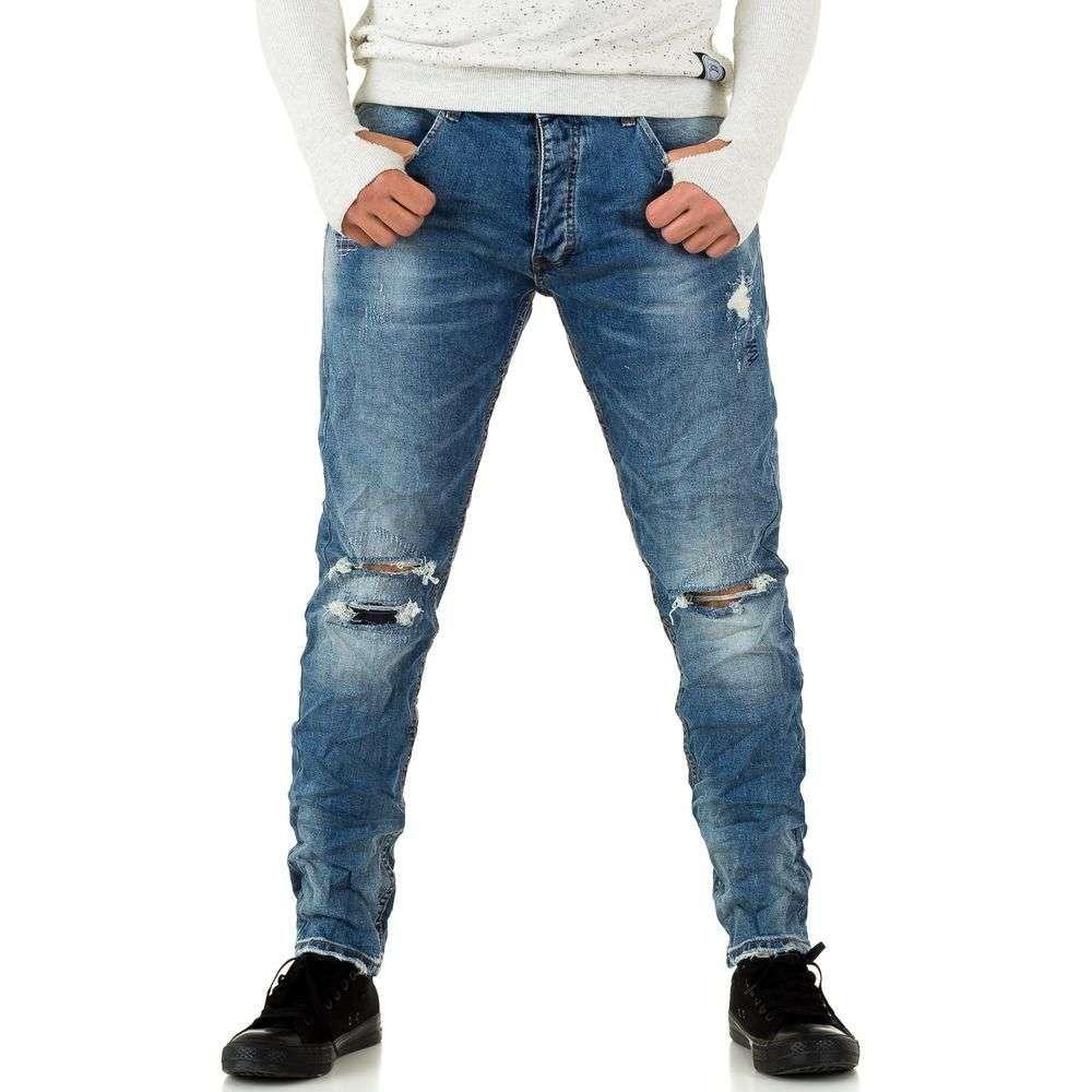 Джинсы мужские с дырками на коленях Y.Two Jeans (Европа), Синий