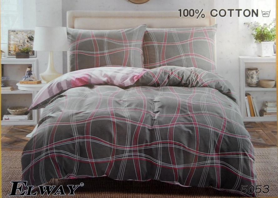 Сатиновое постельное белье полуторное  ELWAY  5053