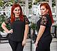 """Элегантная нарядная женская блузка до больших размеров 15155 """"Софт Кокетка Рукава Кружево"""" в расцветках, фото 2"""
