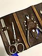 Маникюрный набор SPL 5 предметов натуральная кожа, фото 3
